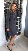 Женское двубортное кашемировое пальто
