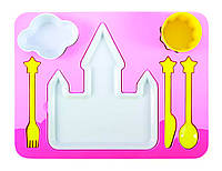 Набор детской посуды для обеда, розовый