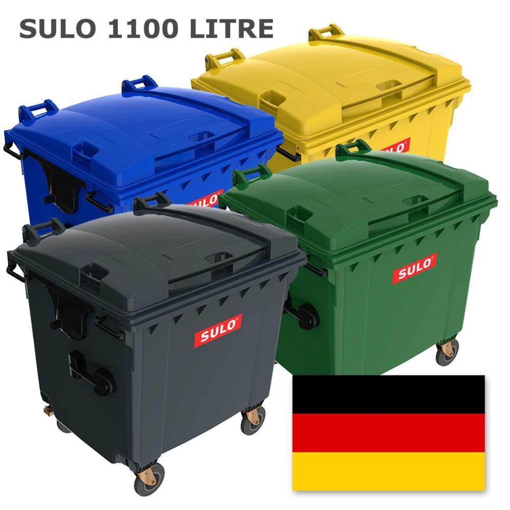 Sulo пластиковый евроконтейнер для мусора 1,1 м3. с плоской крышкой
