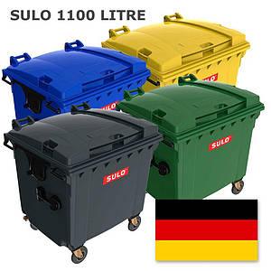 Sulo пластиковий євроконтейнер для сміття 1,1 м3. з плоскою кришкою