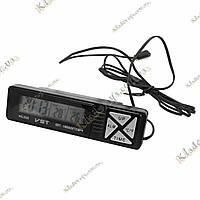 Автомобильные часы с термометром VST-7066, фото 1