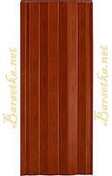 Дверь гармошка Vinci Decor Melody Фруктовое дерево, раздвижные двери пластиковые, межкомнатные двери,складные