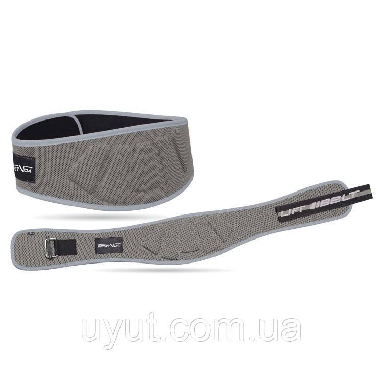 Пояс для тяжелой атлетики неопреновый SportVida SV-AG0082 (L) Gray