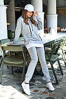 Прогулочный спортивный женский костюм с капюшоном (Милитари jd)