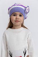 Шапка детская 126R005 цвет Сиренево-белый