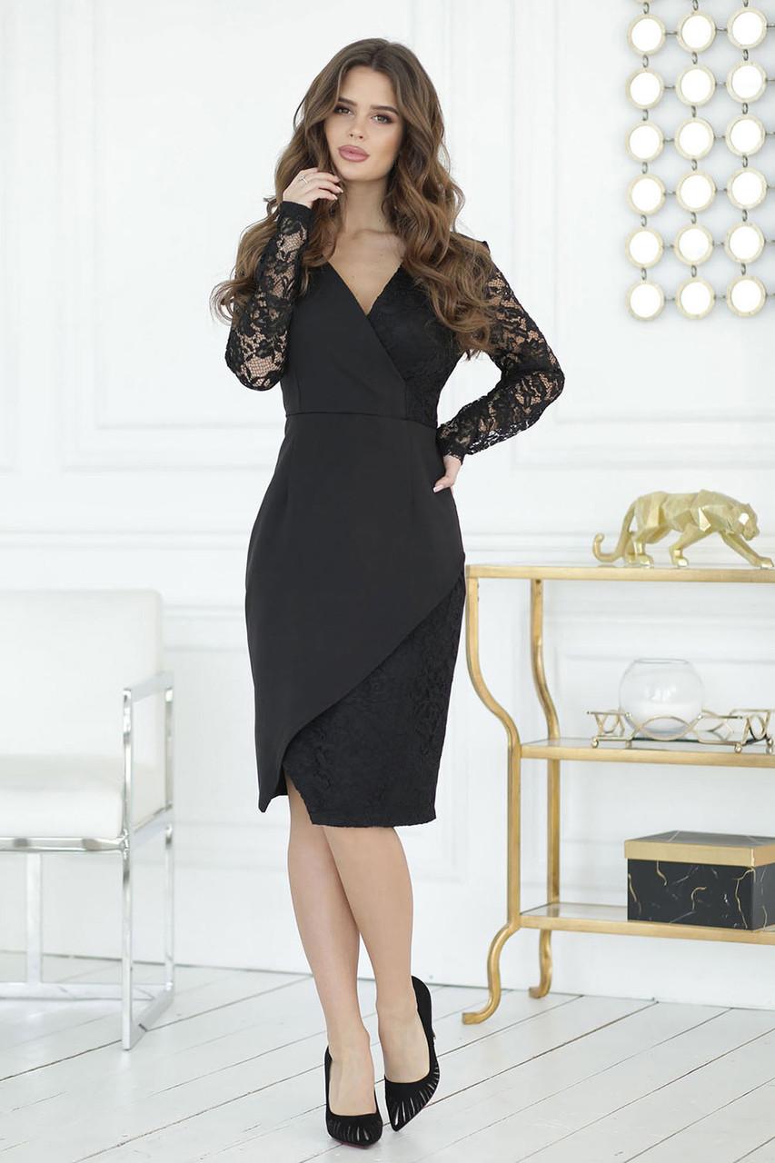 Черное торжественное Платье