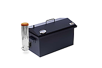 Коптильня с дымогенератором и термометром для горячего и холодного копчения окрашенная (520х300х310)