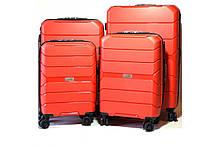 Комплект чемоданов Johnny  4шт. из полипропилена