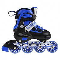 Роликовые коньки Nils Extreme NA0328A Size 30-33 Black/Blue, фото 1