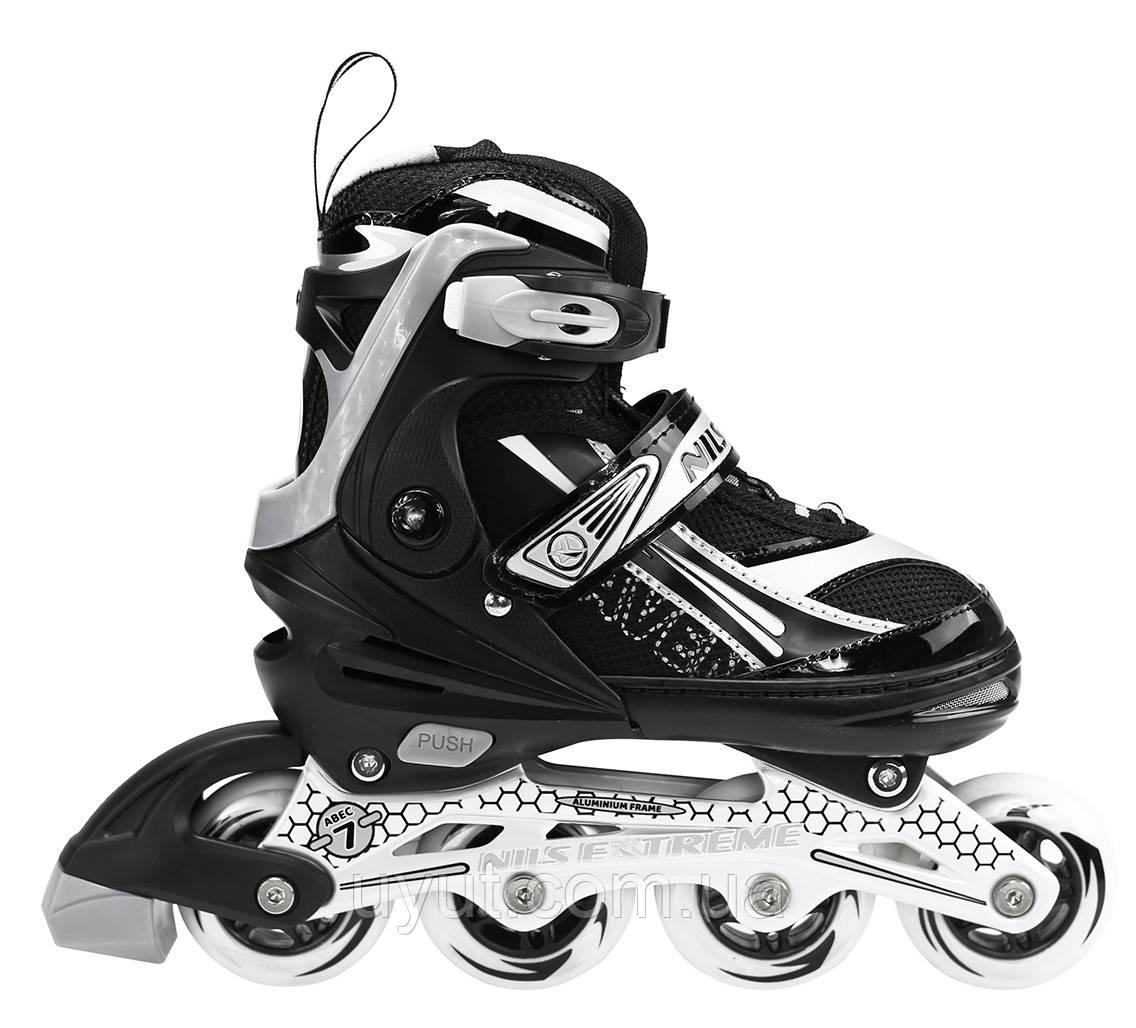 Роликовые коньки Nils Extreme NA1123A Size 31-34 Black