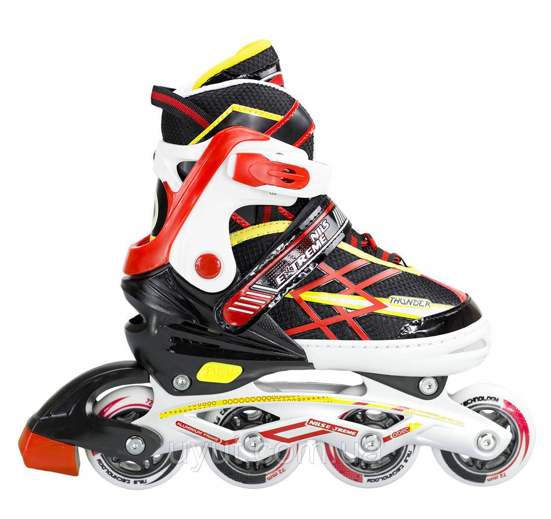 Роликовые коньки Nils Extreme NA1160A Size 31-34 Black/Red