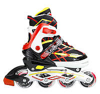 Роликовые коньки Nils Extreme NA1160A Size 31-34 Black/Red, фото 1