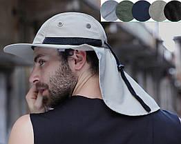 Кепка / шляпа походная туристическая с вентиляцией и защитой шеи от солнца / загара (5 РАСЦВЕТОК)