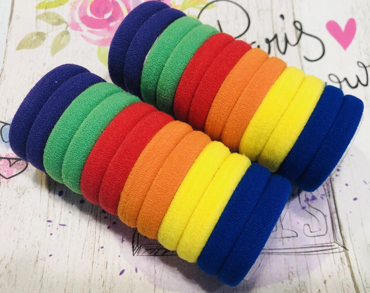 Резинка микрофибра Радужные цвета / 24 штуки