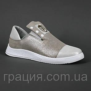 Туфли модные женские из натуральной кожи
