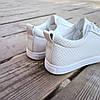 Белые кроссовки эко - кожа текстиль слипоны мокасины легкие летние дышащие перфорация на шнурках, фото 4