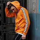 Худи спортивное мужское Адидас (Adidas) оранжевое подростковое, фото 2