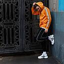 Худи спортивное мужское Адидас (Adidas) оранжевое подростковое, фото 3