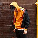 Худи спортивное мужское Адидас (Adidas) оранжевое подростковое, фото 4