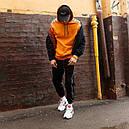 Худи спортивное мужское Адидас (Adidas) оранжевое подростковое, фото 5