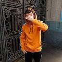 Худи спортивное мужское Адидас (Adidas) оранжевое подростковое, фото 6