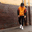 Худи спортивное мужское Адидас (Adidas) оранжевое подростковое, фото 7