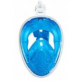 Маска для снорклинга (плавания) SportVida SV-DN0003 Size L/XL Blue, фото 3