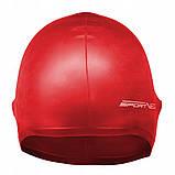 Шапочка для плавання SportVida SV-DN0015 Red, фото 2