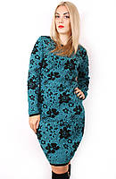 Платье вязанное Цветы норма