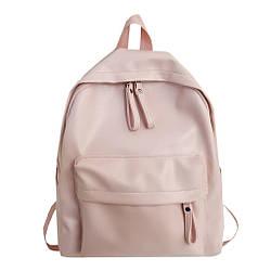 Женский рюкзак розовый(пудра) большой из кожзама Diehe (AV241)