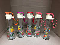 Бутылка стеклянная для воды с поилкой 250 мл., фото 1