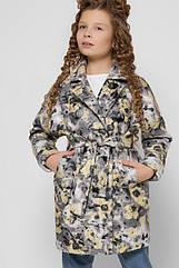 Двубортное пальто для девочек от бренда X-Woyz 8308 Размеры 32- 42. Новинка 2020!