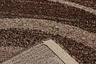 Коврик современный WELLNESS 4179 0,8Х1,5 КОРИЧНЕВЫЙ прямоугольник, фото 3
