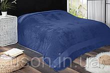 Турецкая простынь бамбук 200*220 Tм Zeron PUANLI  Синяя Коробка