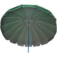 Зонт торговый 16 спиц пластик 3,0 метра зеленый