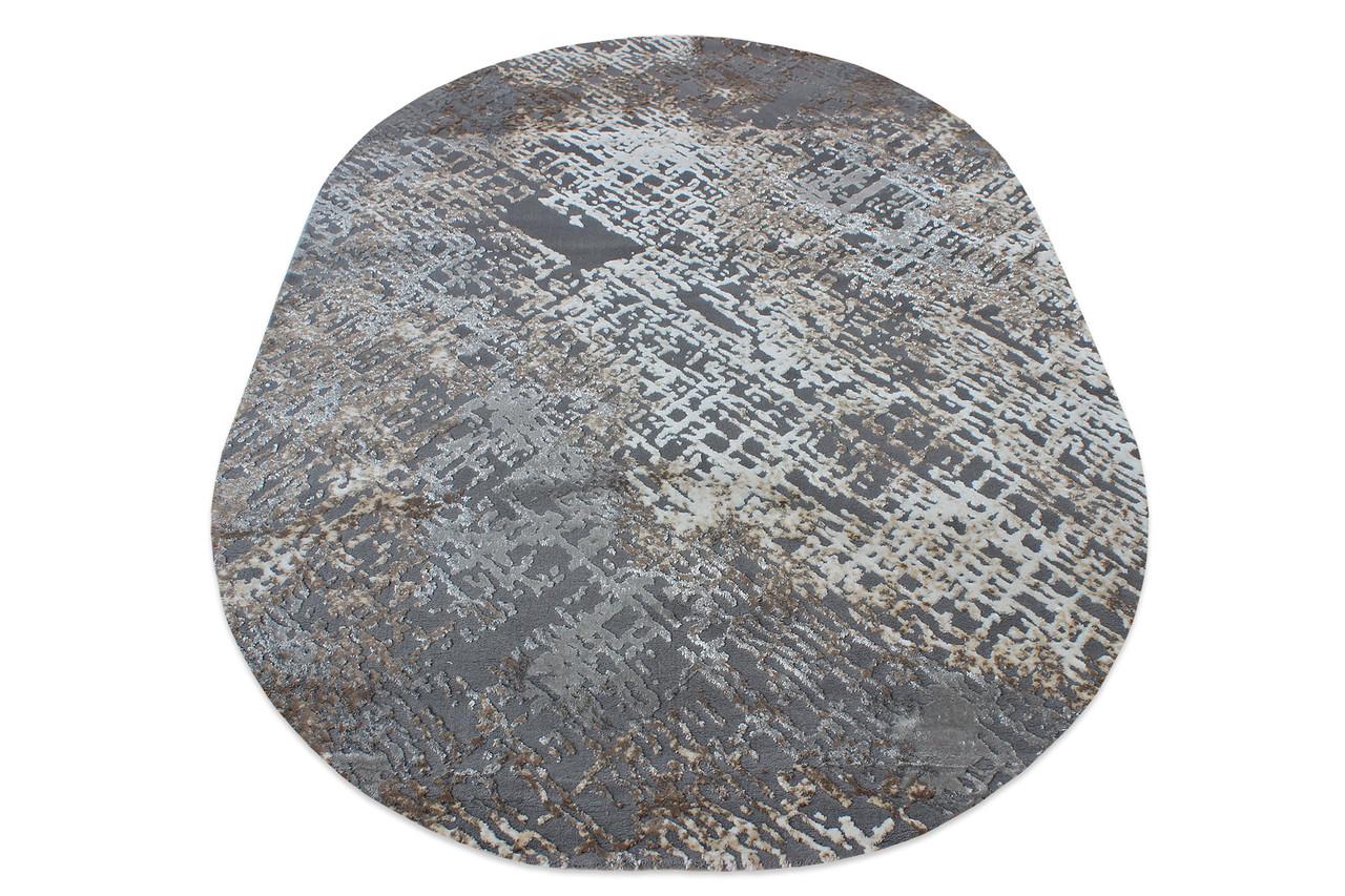 Ковер современный ZARA W3982 1,6Х2,3 СЕРЫЙ прямоугольник