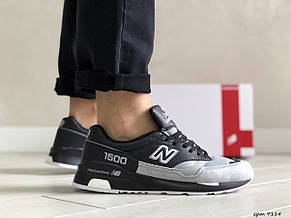 Замшевые мужские кроссовки New Balance 1500,черно серые, фото 2