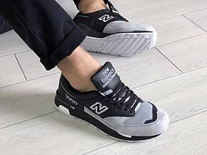 Замшевые мужские кроссовки New Balance 1500,черно серые, фото 3
