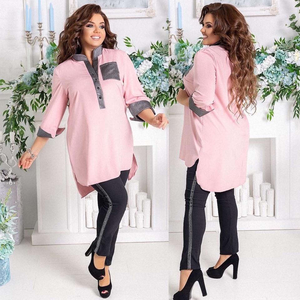 Женский брючный костюм рубашка и брюки с лампасами 48-50, 52-54,56-58, 60-62