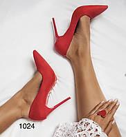 Туфлі жіночі класичні  червоні, фото 1