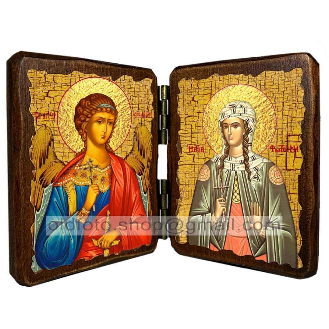 Икона Светлана Святая Мученица (складень двойной 140х100мм)
