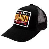 Мужская кепка Dsquared2 бейсболка черная Дискваред 100% Хлопок Люкс Молодежная Трендовая Хайповая реплика, фото 2