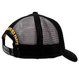 Мужская кепка Dsquared2 бейсболка черная Дискваред 100% Хлопок Люкс Молодежная Трендовая Хайповая реплика, фото 3