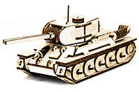 Конструктор пазл из дерева ''Танк Т-34'' развивающая игрушка для детей