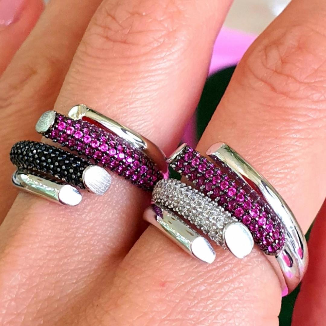 Брендовое серебряное кольцо - Стильное женское серебряное кольцо