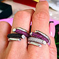 Брендовое серебряное кольцо - Стильное женское серебряное кольцо, фото 7