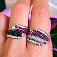 Брендовое серебряное кольцо - Стильное женское серебряное кольцо, фото 6