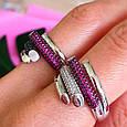 Брендовое серебряное кольцо - Стильное женское серебряное кольцо, фото 5