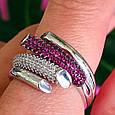 Брендовое серебряное кольцо - Стильное женское серебряное кольцо, фото 4