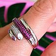 Брендовое серебряное кольцо - Стильное женское серебряное кольцо, фото 3
